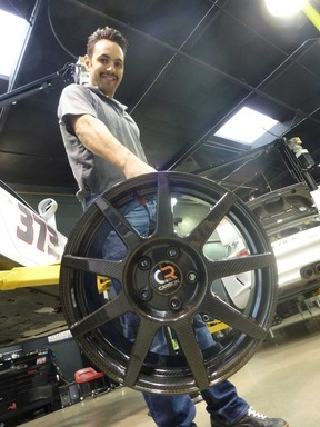 Owner of Southern California BBI Autosport and Master Distributor for Carbon Revolution, Betim Berisha, demonstrates the light weight of the CR-9 ''one-piece'' carbon fiber wheel.omfort Revolution Dream Bliss 14'' Memory Foam Mattress
