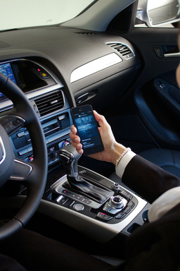 Once inside the 2013 Audi A4, an ever-increasing suite of customized features morphs the Silvercar into the traveler's own.