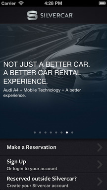 The Silvercar app is easy-to-use and has a simple layout, allowing iOS and Android customers to manage their Silvercar experience from reservation to return.