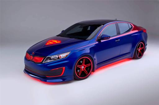 Kia today unveils Superman-themed Optima Hybrid, sixth of eight customized vehicles representing characters from the Justice League to benefit DC Entertainment's ''We Can Be Heroes'' giving campaign