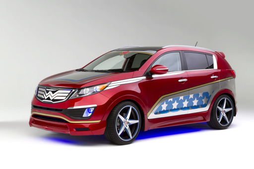 "Kia Today Unveils Wonder Woman Sportage, Seventh of Eight Customized Vehicles Representing Characters from the Justice League to Benefit DC Entertainment's ""We Can Be Heroes"" Giving Campaign"