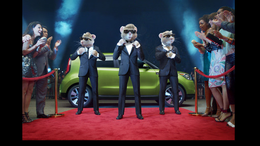 KIA MOTORS' ICONIC HAMSTERS SHOW OFF A STYLISH NEW LOOK AS THEY STRUT THEIR STUFF ON THE RED CARPET IN CAMPAIGN FOR ALL-NEW 2014 SOUL
