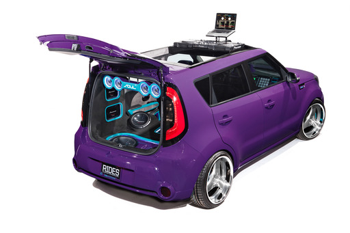 RIDES magazine totally transformed this all-new 2014 Kia Soul into the ultimate DJ booth on wheels.