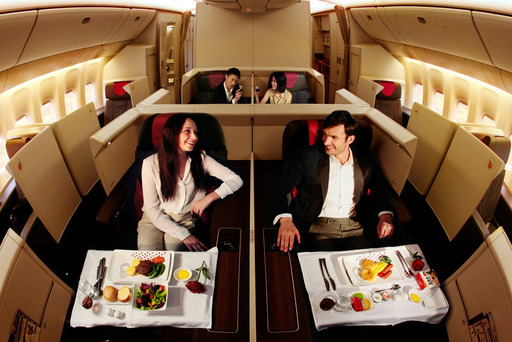 "The ""triple seven"" has a wider cabin than any competing aircraft. Air China's Forbidden Pavilion (first class) features eight luxury suites."