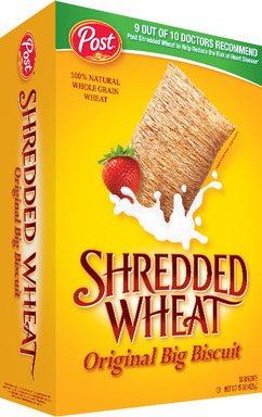 96 percent of experienced doctors would recommend Post Shredded Wheat as part of a healthy diet to help reduce the risk of heart disease.
