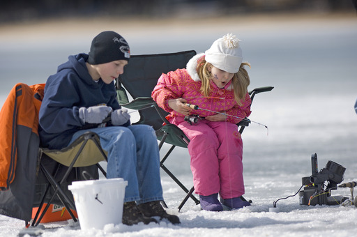 You don't have to be an expert. Visit TakeMeFishing.org to learn how you can get out on the ice. Photo courtesy of Michigan Department of Natural Resources