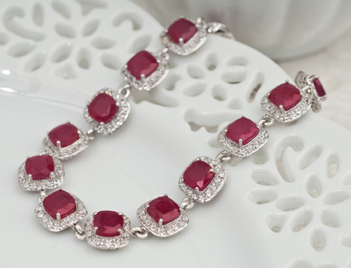 "Mahaleo ruby bracelet from JTV's ""Love Your Heart"" jewelry collection"