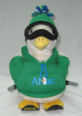 The Aflac Holiday Duck Comes  in Two Sizes with all Proceeds Going to Fight Childhood Cancer