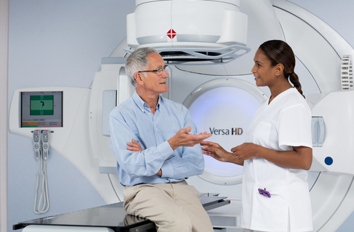 Versa HD is an advanced linear accelerator system from Elekta designed to improve patient care and treat a broader spectrum of cancers