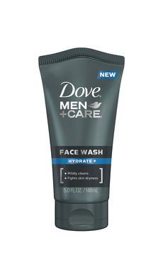NEW DOVE®MEN+CARE® Face Wash offers effective cleansing and fights skin dryness. Available in Hydrate+ and  Sensitive+