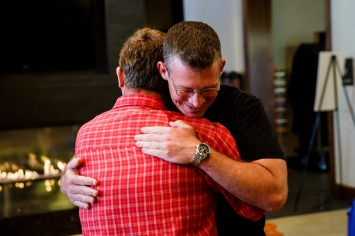 Homewood Suites by Hilton reunites Army Sergeant First Class Russell Zink with father Peter Zink.