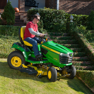 Technological advances in the new John Deere X700 Signature Series makes lawn care less of a task and easier for homeowners.