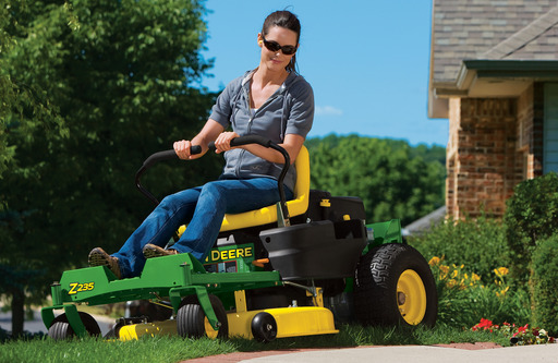 John Deere's Z235 and Z255 offer infinite maneuverability and 7-mph operation – making the job even more efficient.