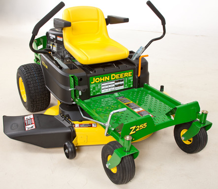 The functionality of the new Z235 and Z255 John Deere zero-turn radius mowers cut mowing time, while increasing comfort.