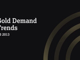 Q3 2013 Gold Demand Trends Report by the World Gold Council