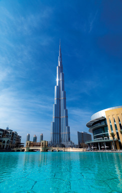 Otis elevators are in the Burj Khalifa in Dubai, the world's tallest building at 2,722 ft.