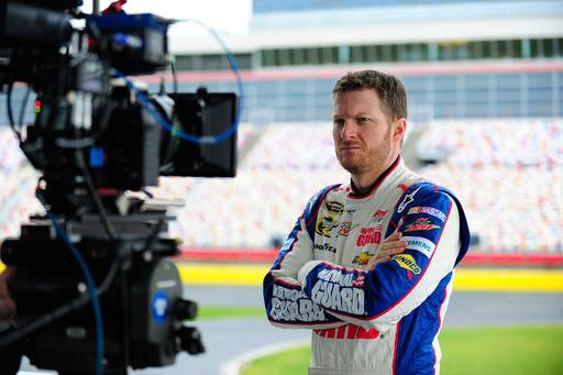 NASCAR Sprint Cup Series Driver Dale Earnhardt Jr. on set of NASCAR Brand Campaign on January 16, 2013 in Charlotte, North Carolina. (Photo by Jamey PriceGetty Images for NASCAR)