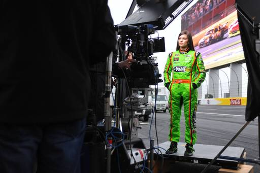 NASCAR Sprint Cup and Nationwide Series Driver Danica Patrick on set of NASCAR Brand Campaign on January 15, 2013 in Charlotte, North Carolina. (Photo by Jamey PriceGetty Images for NASCAR)