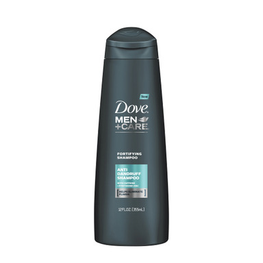 NEW DOVE® MEN+CARE™ Antidandruff Fortifying Shampoo is developed with Pyrithione Zinc to help eliminate flakes and improve scalp health.