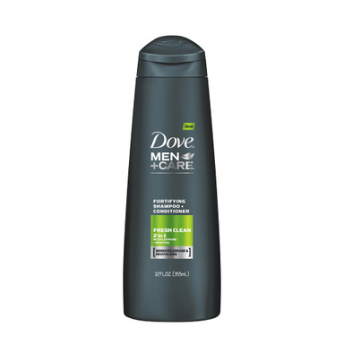 NEW DOVE® MEN+CARE™ Fresh Clean Fortifying 2-in-1 is fortified with menthol and infused with caffeine to provide deep clean and refreshment.