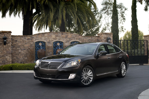 Hyundai's redesigned 2014 Equus revealed at the New York Auto Show with driver-focused technologies, premium design elements, enhanced dynamics and advanced safety features
