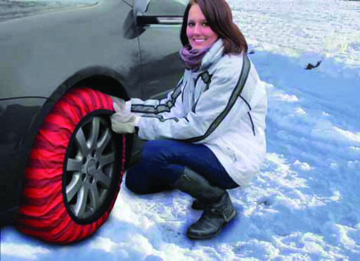Snow Socks are available in two styles - Classic for $99 and Super for $149. Sold in sets of two, Snow Socks should be placed on the drive tires of the vehicle.