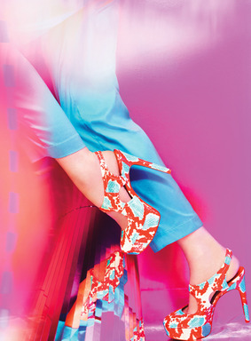 Via Spiga Spring 2013 advertising campaign featuring the Deanne shoe