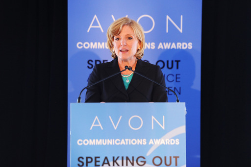 Avon Products, Inc. CEO Sheri McCoy addressed global women's rights leaders at the 2nd Avon Communications Awards: Speaking Out About Violence Against Women during the 57th session of the Commission on the Status of Women at the UN.