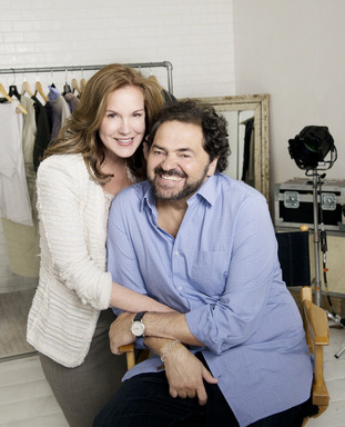 Elizabeth Perkins wth her co-star and husband, Julio Macat