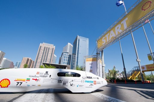 Universite Laval (Quebec, Canada) achieved an astonishing 3,587.1  miles per gallon with their Protoype Gasoline vehicle at Shell Eco-marathon Americas 2013