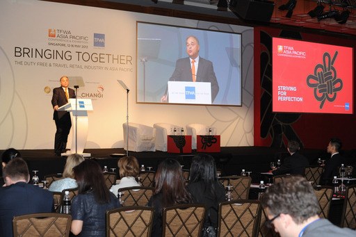 Erik Juul-Mortensen, President TFWA, addresses the TFWA Asia Pacific Conference 2013