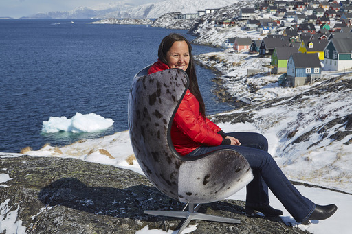 Each sealskin Egg (TM) chair is unique and numbered, no two chairs are alike