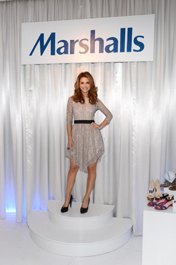 Maria Menounos proves everyday is an occasion for fabulous showing off her favorite designer items from Marshalls at an event in NYC