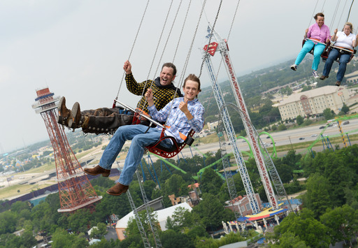Time to saddle up and ride the Texas SkyScreamer at Six Flags Over Texas!