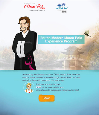 Be the Modern Marco Polo Experience Program Layout