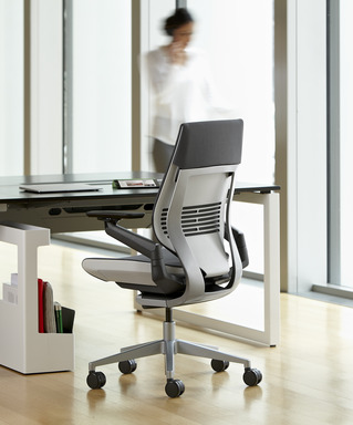 The Gesture Chair by Steelcase was created based around research on the way technology affects the human body.