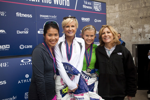 Celebrity co-hosts Mika Brzezinski and Alison Sweeney with Fitness Editor-in-Chief Betty Wong and More Editor-in-Chief Lesley Jane Seymour at the 2013 More/Fitness Half