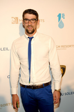 Olympic Gold Medalist Michael Phelps supports water conservation at One Night for One Drop. PHOTO CREDIT: Bryan Steffy/Getty Images