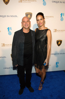 Cirque du Soleil and One Drop Founder Guy Laliberte and Claudia Barila at One Night for One Drop. PHOTO CREDIT: Bryan Steffy/Getty Images