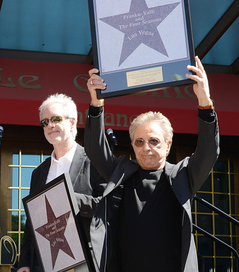 "Frankie Valli and Bob Gaudio Receive replicas of their  ""Las Vegas Walk of Stars"" star © Denise Truscello"