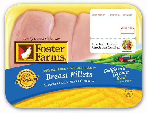 American Humane Certified™ Foster Farms Fresh Chicken is available in California, Oregon and Washington