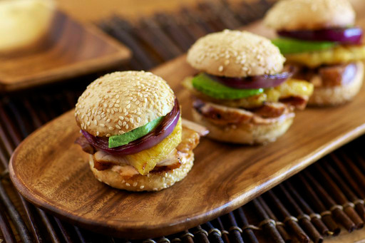Pineapple-Marinated Grilled Chicken Sliders – Aida Mollenkamp for Foster Farms