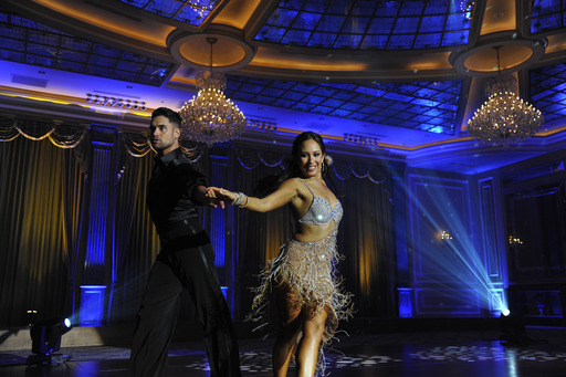 Dance champion Cheryl Burke does the cha cha while wearing the Depend Silhouette for Women briefs under a sultry dance costume in The Great American Try On from Depend.