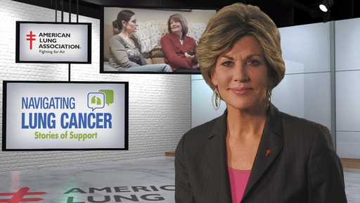 "Greta Kreuz, lung cancer survivor and award-winning reporter and anchor for ABC7/WJLA-TV, narrates the American Lung Association video ""Navigating Lung Cancer: Stories of Support"""