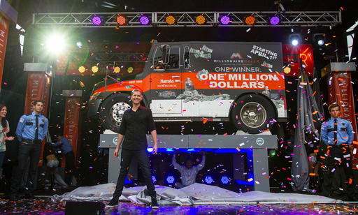 Illusionist Rob Lake successfully makes an armored truck appear steps off Beale St. to dramatically launch Caesars Entertainment's Millionaire Maker Powered by Total Rewards Tunica resorts promotion