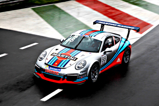 MARTINI® and Porsche reignite their legendary relationship as the distinctive dark blue, light blue and red stripes of MARTINI® Racing are seen for the first time since 2008.
