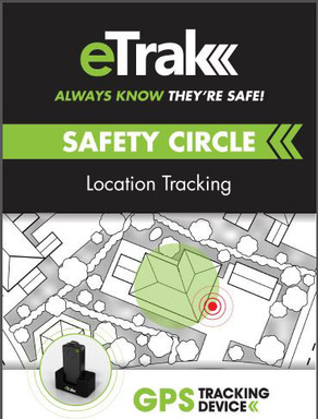 eTrak's Safety Circle application allows you to draw a geo-fence around a specified area; when the device leaves or enters these zones, you will be notified via text and email.