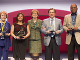 Recipients of the 2013 Amway Hero Awards for generosity, leadership, patriotism and determination