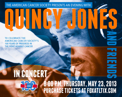 Benefit concert - An Evening with Quincy Jones & Friends - will celebrate 100 years of progress in the fight against cancer.