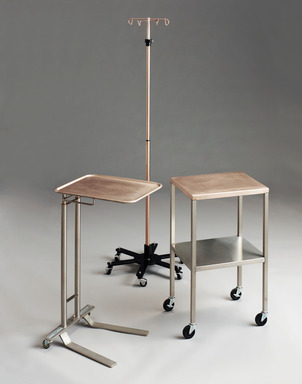 Antimicrobial Copper IV Pole, Cart and Mayo Stand - CDA